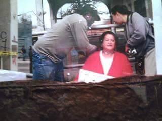 Mary Agnes chained at La Gloria. Photo courtesy of Maria Ines Rodriguez.