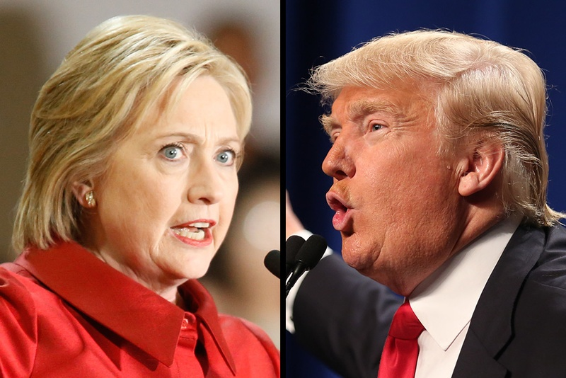 Democrat Hillary Clinton and Republican Donald Trump will face off in the 2016 presidential election. Photo by Michael Stravato : Shelby Tauber, for the Texas Tribune.