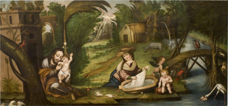 """""""Rest on the Flight into Egypt."""" Image courtesy of the San Antonio Museum of Art."""
