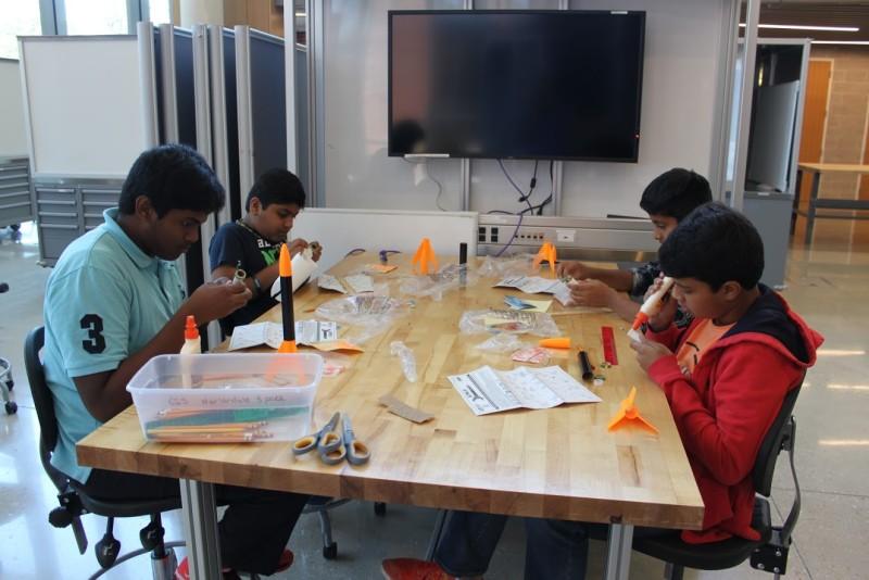 Students created rockets during the leadership program. Photo Courtesy of the San Antonio Youth Leadership Program.
