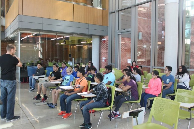 The leadership program kicked off at Trinity University's Center for the Sciences and Innovation building. Photo Courtesy of the San Antonio Youth Leadership Program.