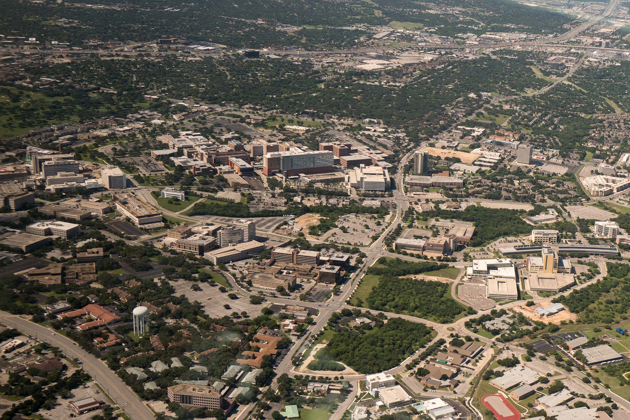 An Aerial Photograph of the South Texas Medical Center in San Antonio. Photo by Scott Ball.