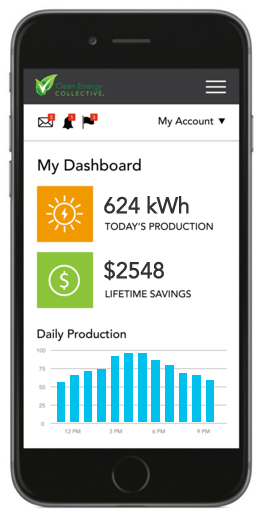 Clean Energy Collective's MyOwnCleanEnergy site is smartphone friendly.