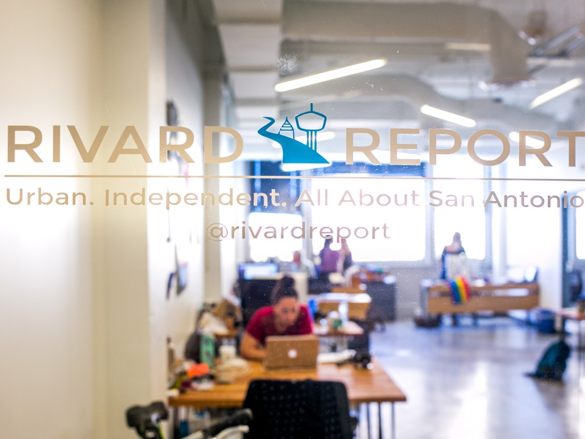 The Rivard Report office is located in the Rand Building at 110 E. Houston St. Photo by Kathryn Boyd-Batstone.