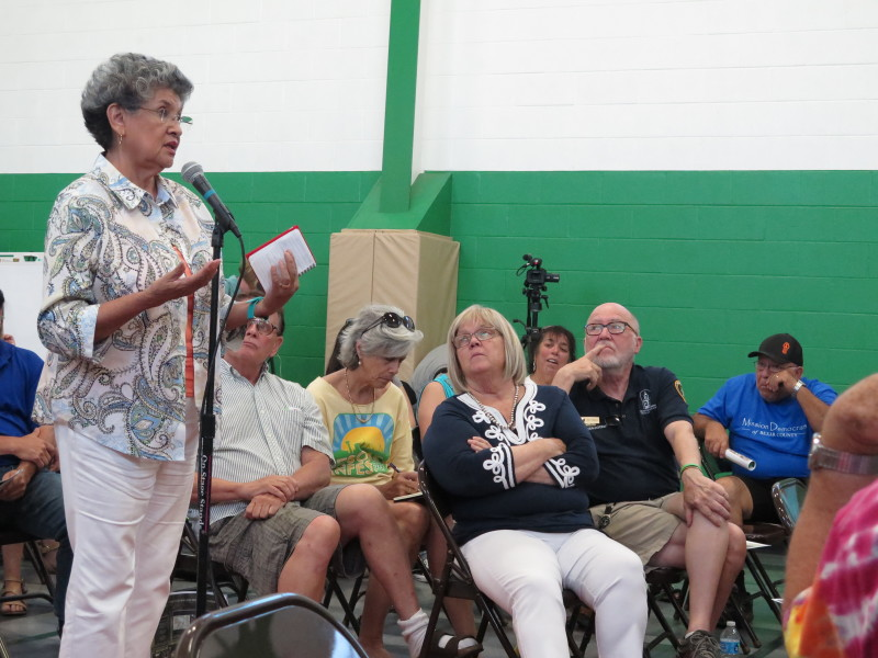 María Berriozábal, 75, a former San Antonio council member, has been to several of the public meetings. Photo by Rocio Guenther.