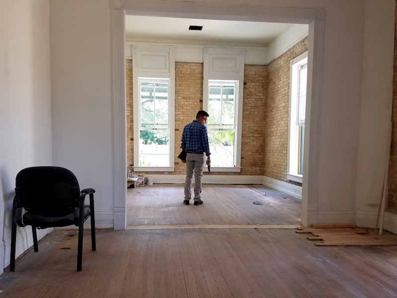 The Koehler House is still undergoing renovations. Photo by Iris Dimmick.