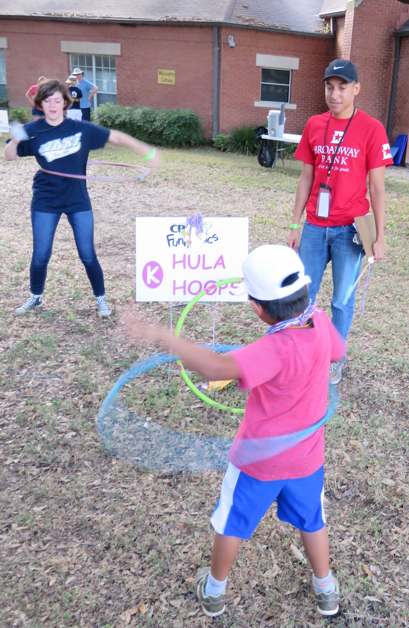Children compete in a hula hoop tournament during the 33rd annual Funlympics. Photo courtesy of the San Antonio CPA Society.