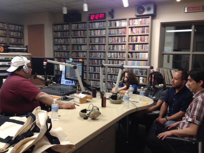 Jorge Canavati hosts Jazz de Mexico in the KRTU studio.  Photo courtesy of KRTU.