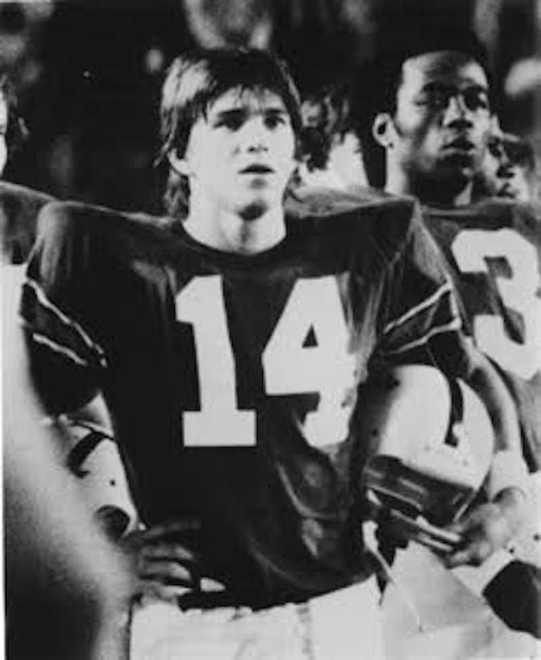 Dr. Jaime R. Garza, pictured at age 20, broke several of Tulane University's all-time receiving records in 1974. Photo courtesy of Dr. Jaime R. Garza.