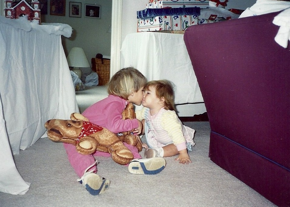 Kelley (left) and Courtney as toddlers. Courtesy photo.