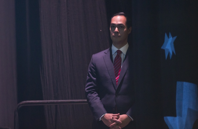 HUD SECRETARY waits behind the stage at the Texas Democratic Convention on June 17, 2016. Photo by Marjorie Kamys Cotera, courtesy of The Texas Tribune.