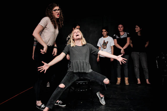 Missed Opportunity founder Shelby Seier puts her heart and soul into each performance at The Playhouse. Photo courtesy of Missed Opportunity.