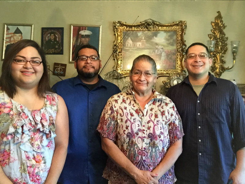 The Flores family. From left: Misty, Rene, Linda, and Juan. Photo courtesy of Misty P. Flores.