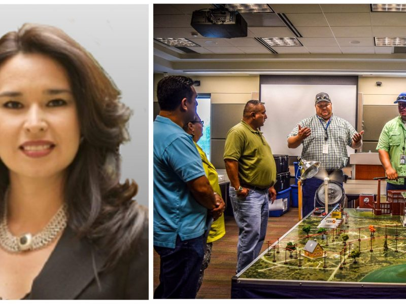 Romanita Matta-Barrera was chosen as SA Works executive director on July 15, 2016. Photo on right courtesy of SA Works.