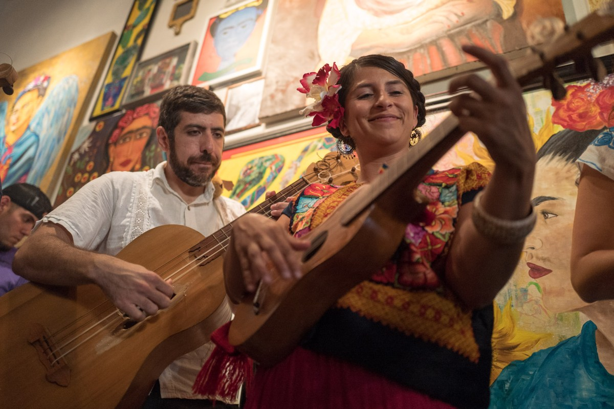 El Callercito De Son performs during Frida Fest at Brick at Blue Star Arts Complex. Photo by Scott Ball.