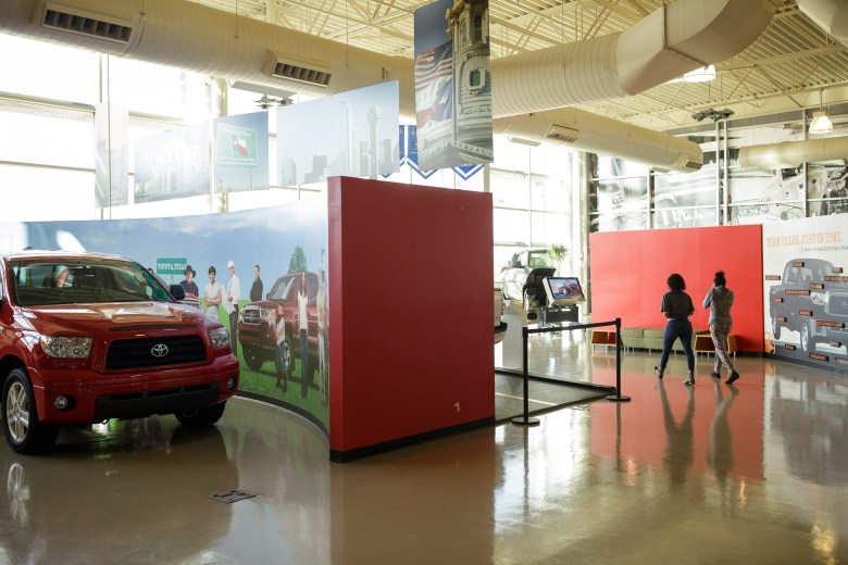 Eastside Dreamers walk through the Toyota Motor Manufacturing Visitor Center. Photo by Scott Ball.
