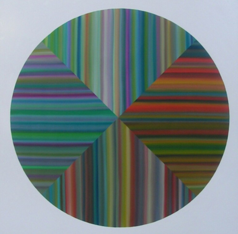 Target I, 2007, oil on canvas. Photo courtesy of Louis Vega Treviño.