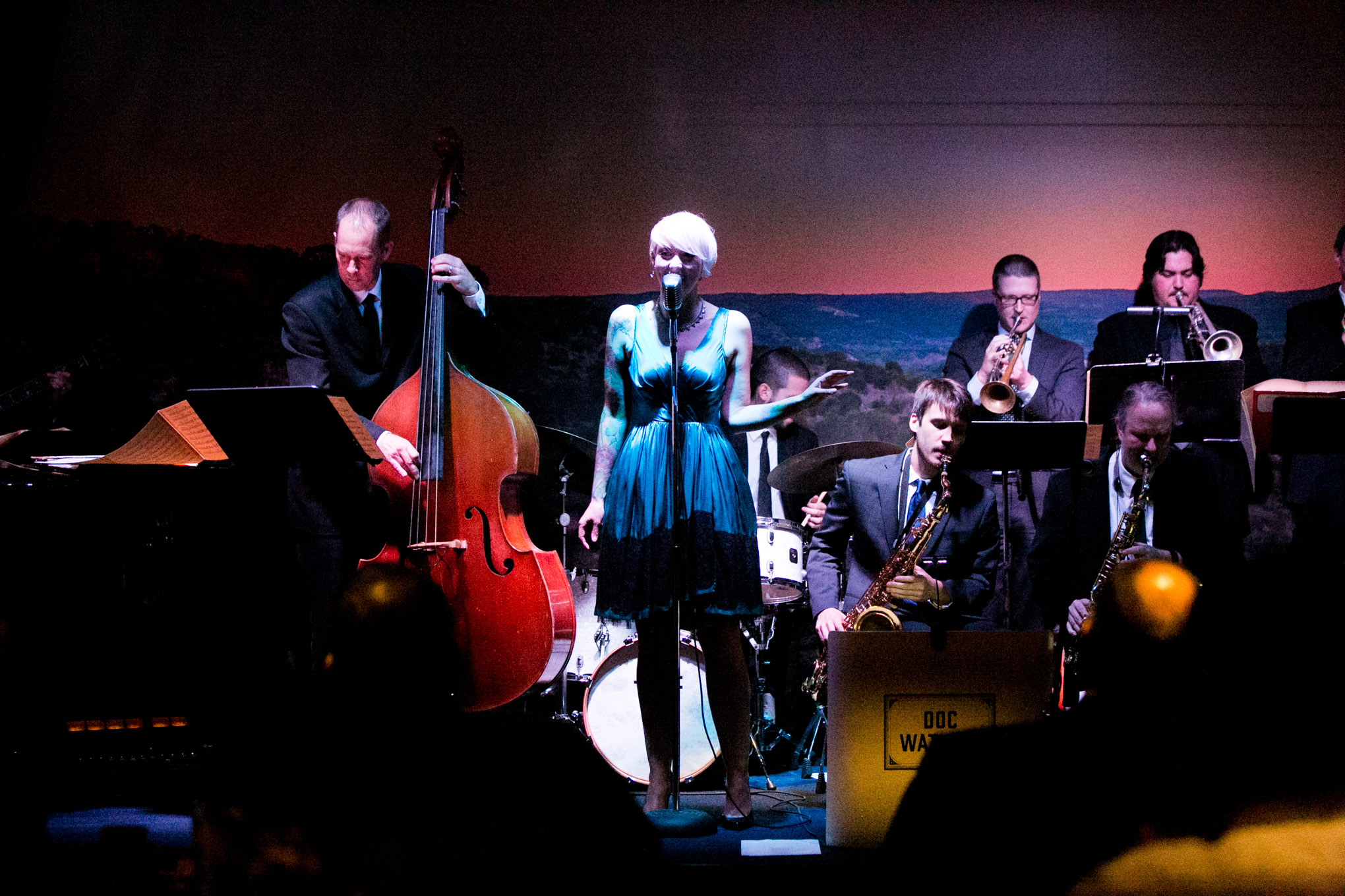 Doc Walkins band performs during the soft opening of Jazz, TX. Photo by Kathryn Boyd-Batstone.