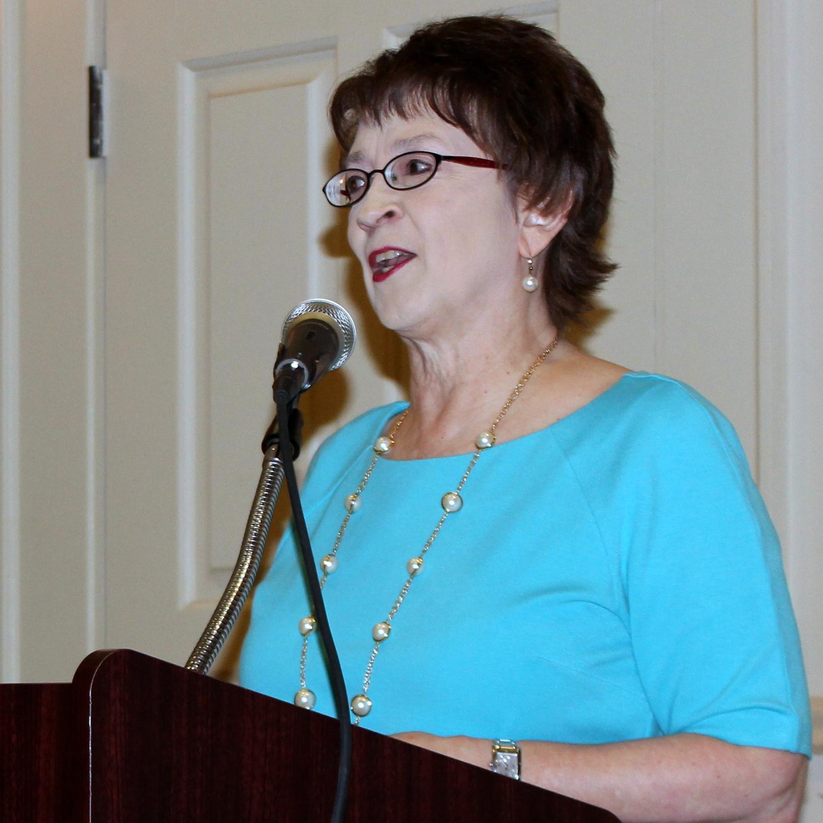 Ann Stevens, president of BioMedSA, speaks at The Health Cell workshop series launch.