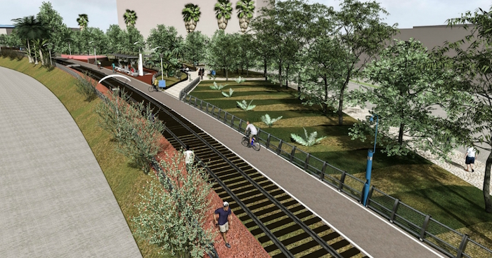 A planned bike trail in Matamoros, Mexico, would connect with trails in the U.S. city of Brownsville, linking cultural districts on both sides of the border. Photo courtesy of Matamoros Planning Commission.