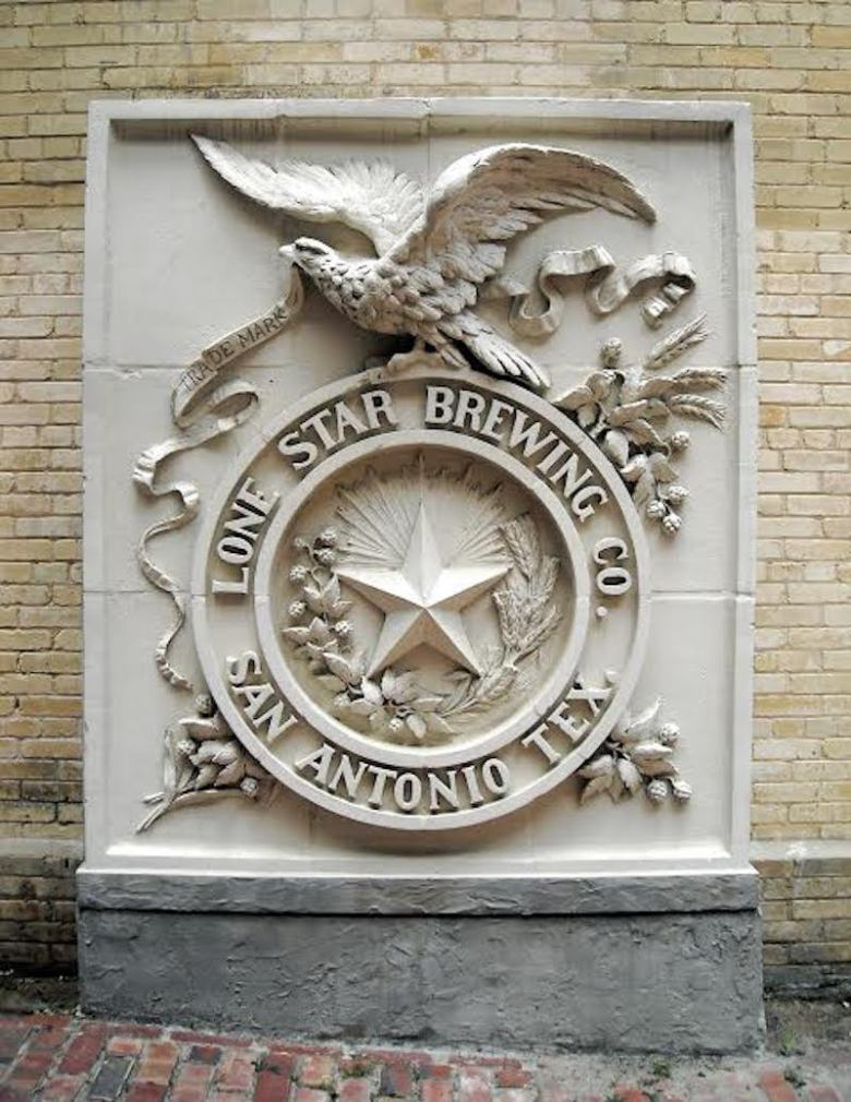 The Lone Star Brewing Company emblem. Photo courtesy of San Antonio Museum of Art.