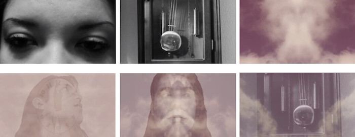 Ron Palos, Time Is, 2015, screen shots from digital video. Image courtesy of Ron Palos.