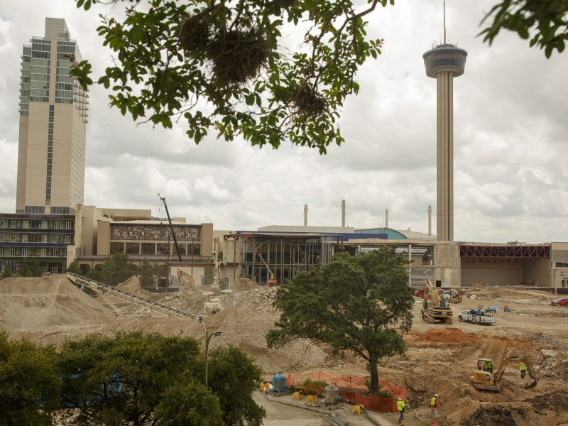 The Hemisfair and Convention Center job site. Photo by Scott Ball.