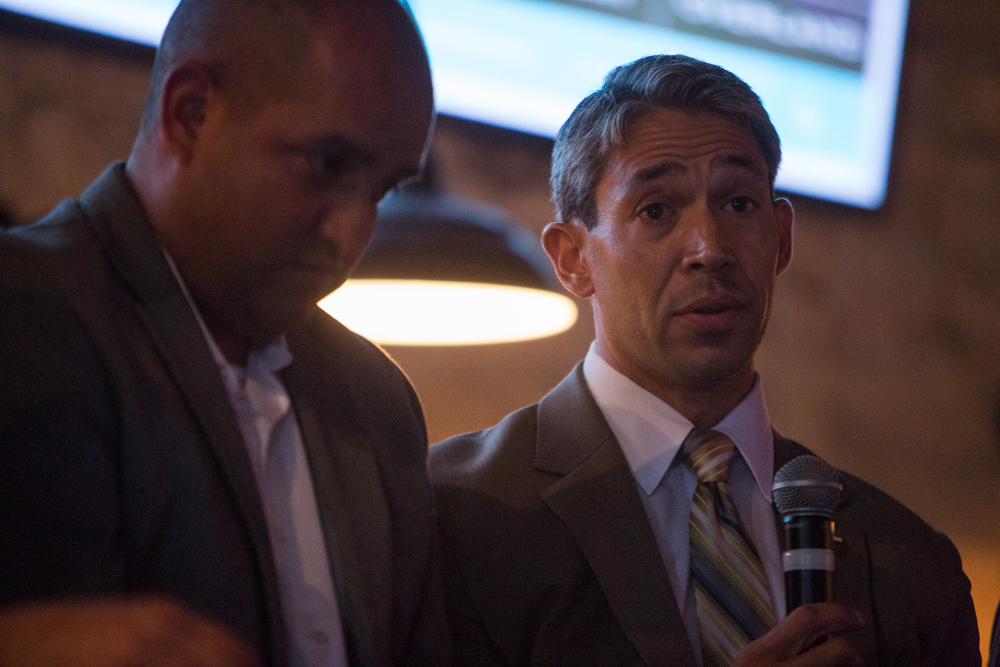 Councilman Ron Nirenberg D8 speaks to the topic of annexation. Photo by Scott Ball.