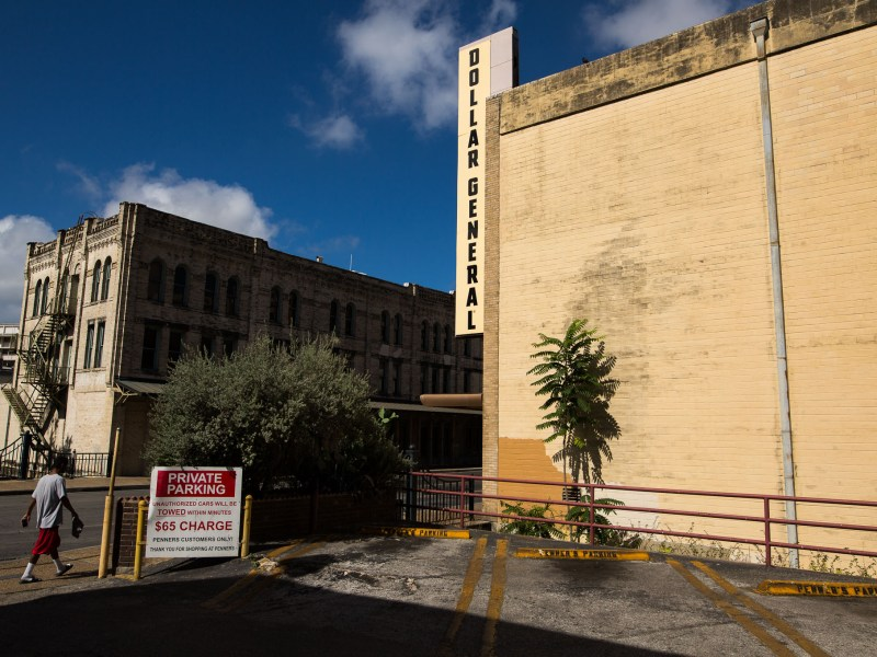 Dollar General at 323 West Commerce Street in downtown San Antonio. Photo by Scott Ball.