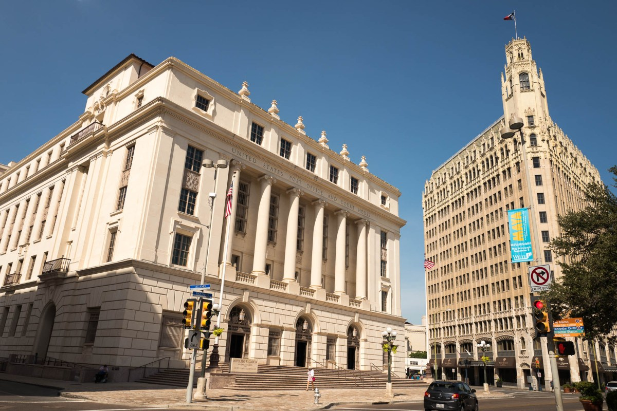 The Hipolito F. Garcia Federal Building located at 615 East Houston Street. Photo by Scott Ball.