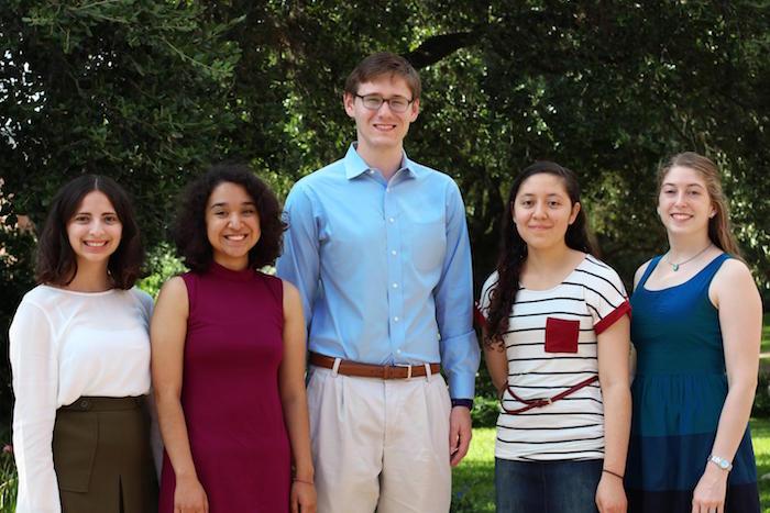 (from left) The Contemporary's Danielle Treviño, Karina Mendez-Perez, Benjamin Collinger, Zabdi Salazar, and Kassie Kelly. Photo courtesy of Benjamin Collinger.