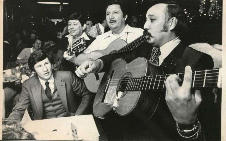 A Mariachi band serenades a Mi Tierra customer. Photo courtesy of Mi Tierra Panadería & Café.