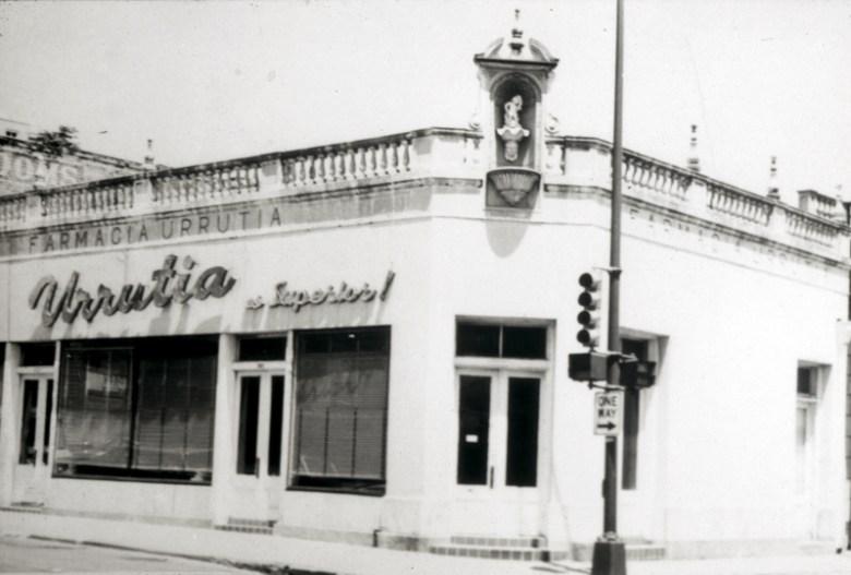 Farmacia Urrutia was a part of the Clinica Urrutia office complex. Urrutia's daughter, Refugio Urrutia Fernandez, was the pharmacist. Photo courtesy of Urrutia Photo Collection.