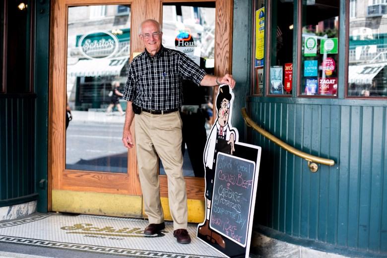 Bill Lyons, current owner of Schilo's Delicatessen. Photo by Kathryn Boyd-Batstone.