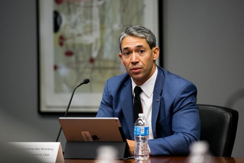 Councilman Ron Nirenberg (D8) voices his concerns for continued community involvement for the implementation of SA Tomorrow. Photo by Kathryn