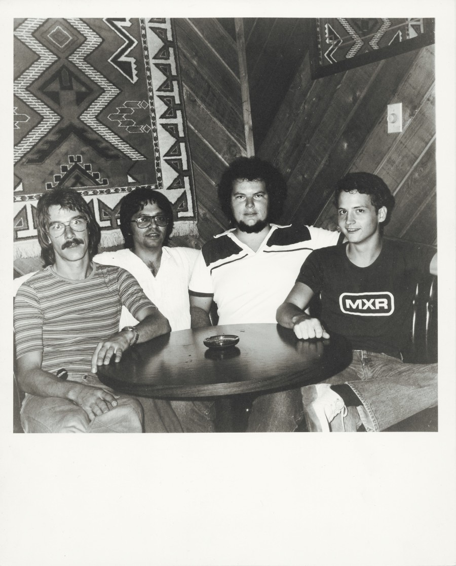 (From left:) Rob Meurer, Andy Salmon, Chris Geppert and Tommy Taylor of Christopher Cross at Steamboat Springs 1874 in Austin, 1978. Photo by Gregg Barrios.