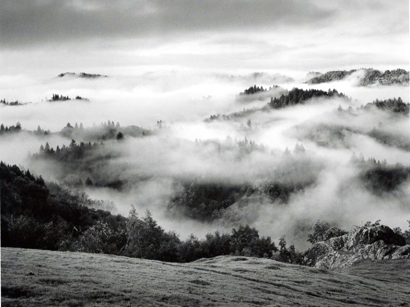 Clearing Storm, Sonoma County Hills. Photo by Ansel Adams, courtesy of the Briscoe Western Art Museum.