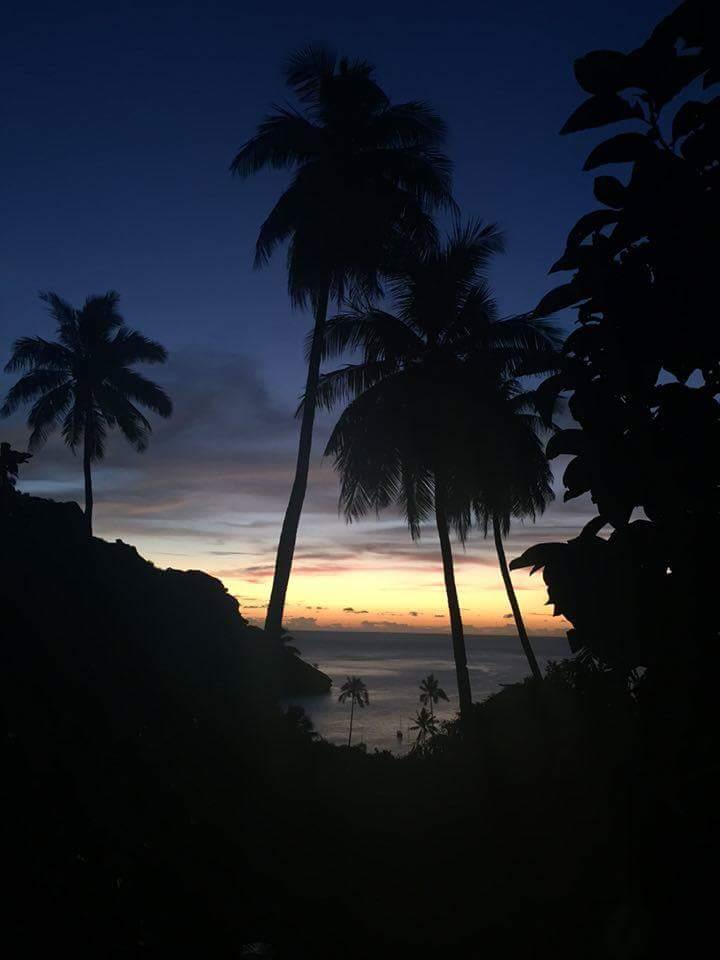 Sunset on Tahuata. Photo by Everett Redus.
