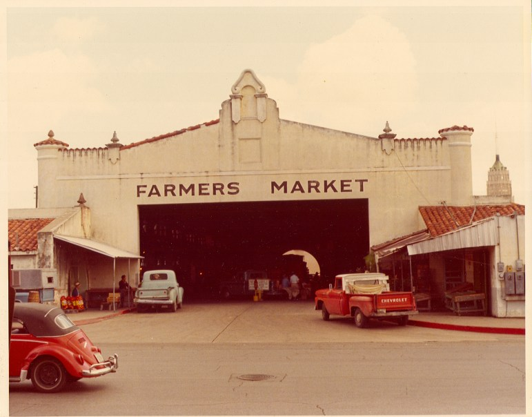 Pedro Cortez and his associates would purchase produce and ingredients at the old Farmer's Market near Mi Tierra. Photo courtesy of Mi Tierra Panadería & Café.