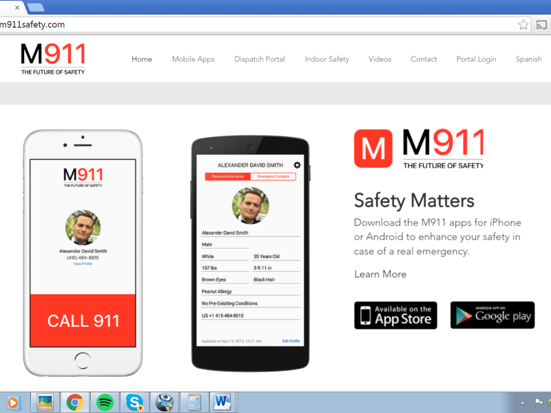 M911 is a free app that enables a cell phone to automatically notify emergency contacts and sends the 911 dispatcher the phone's precise location.
