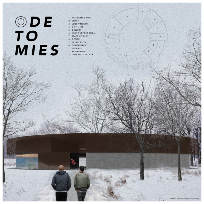 """""""Ode to Mies"""" by Chase Alan White. Graphic courtesy of AIA-SA."""