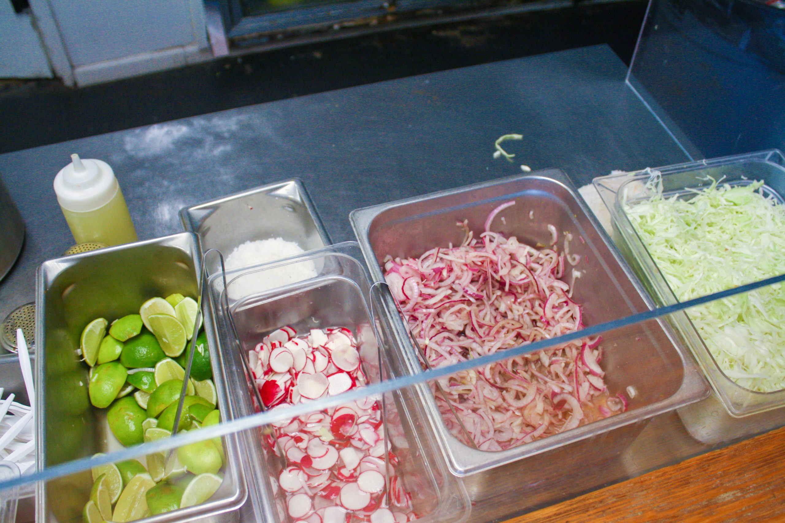 Colorful ingredients that make up the torta ahogada dish. Photo by Rocío Guenther.