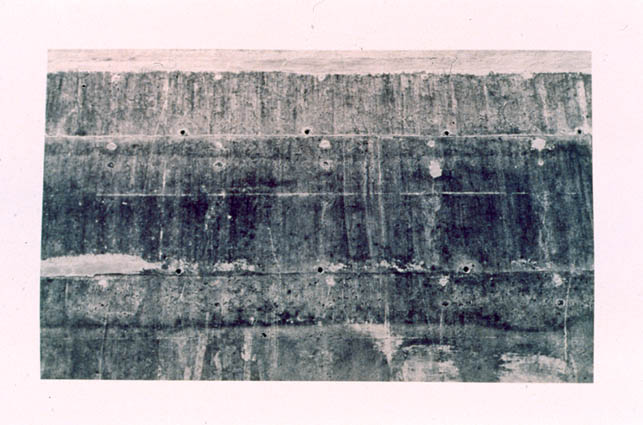 Olmos Dam, 1985, toned cyanotype on paper, 5 x 7 in., (not in exhibition). Photo courtesy of the Kent Rush.