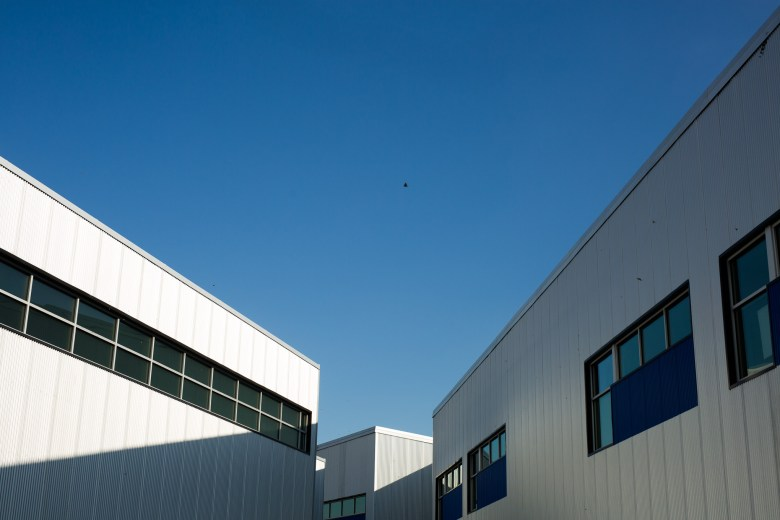 Multiple campus buildings line together at KIPP Cevallos. Photo by Scott Ball.