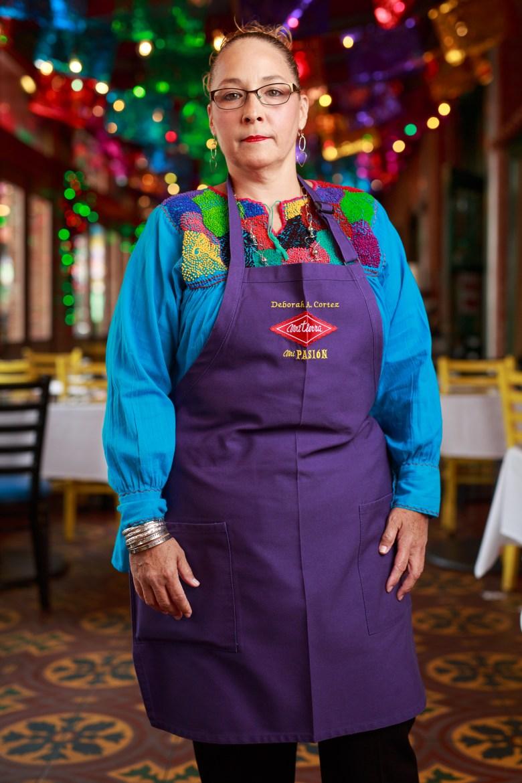 Deborah Cortez has been serving Mi Tierra for 34 years. Photo by Scott Ball.