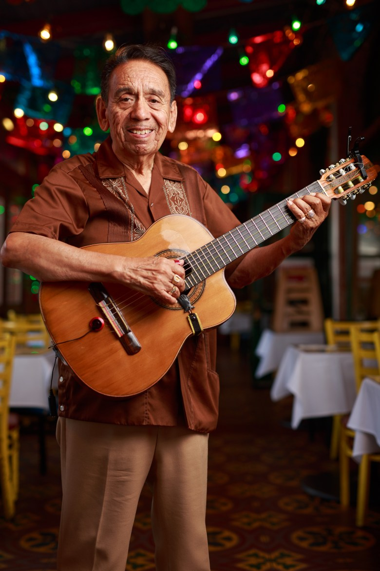 Richard Rodriguez has played at Mi Tierra for eight years. Photo by Scott Ball.