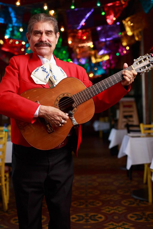 Adan Ledizma has been playing at Mi Tierra for 43 years. Photo by Scott Ball.