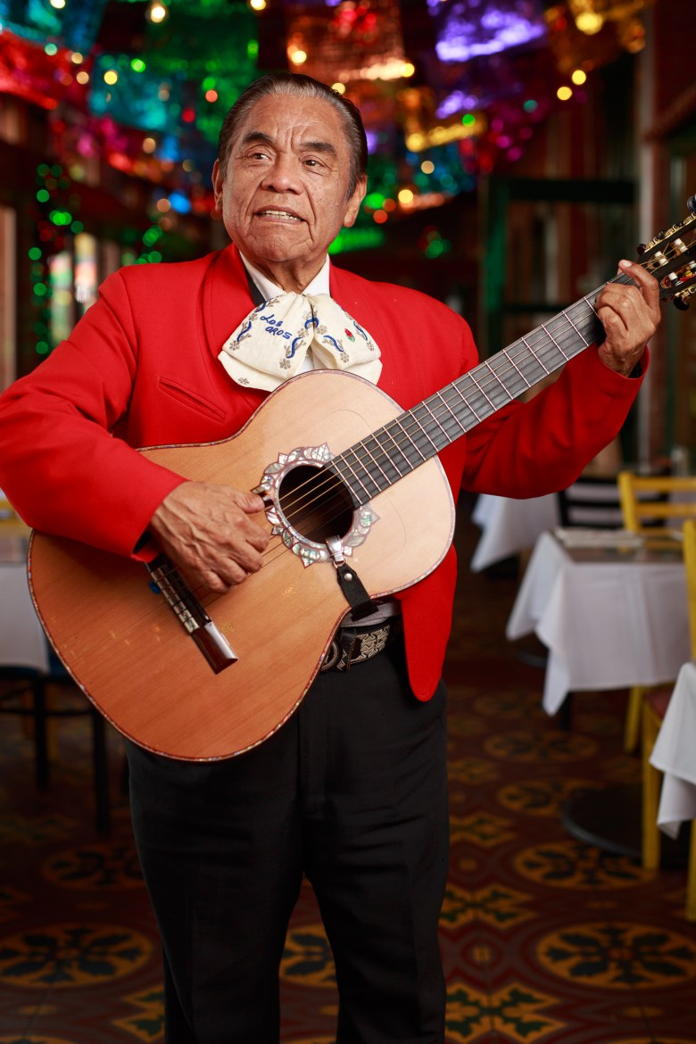 Serafin Rodriguez has been playing at Mi Tierra for 18 years. Photo by Scott Ball.