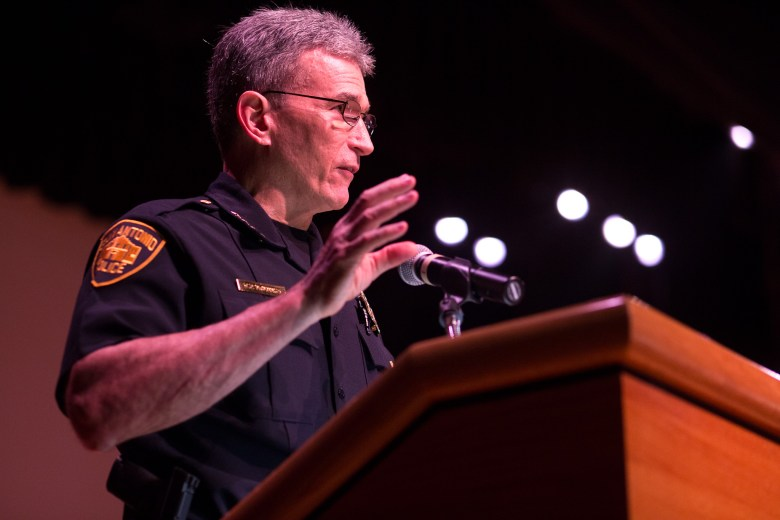 Chief William McManus states that there has never been a better time to be a police officer than now. Photo by Scott Ball.