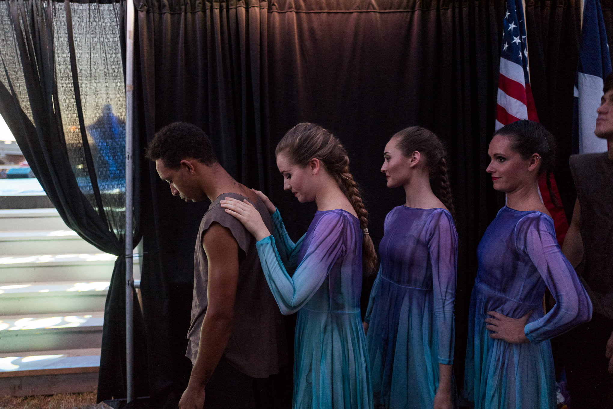 Dancers from Ballet San Antonio prepare themselves just before they take the stage. Photo by Scott Ball.